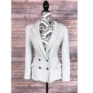 Zara women's blazer size medium gray jacket button